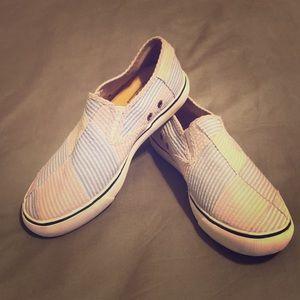 Sperry Top-sider seersucker slip on sneakers